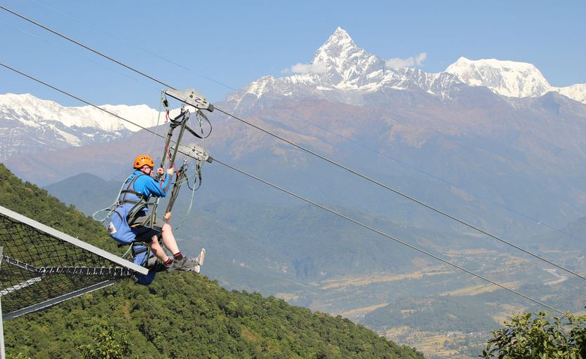 Zip flyer Nepal Pokhara